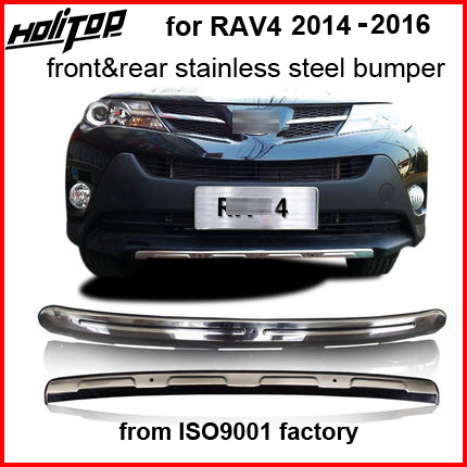front rear skid plate bumper guard bumper protection bull bar for Toyota RAV4 2014 2015 2016