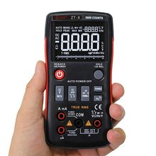 BSIDE Digital Multimeter Thermometer Shielding Interference Continuity Test Multi Meter with Temperature and Test Probes стоимость