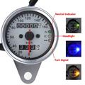 Universal Backlit Motorcycle Dual Odometer Speedometer Gauge ATV Bike Scooter with LED Signal Indicator KMH 12V 0~160 km/h