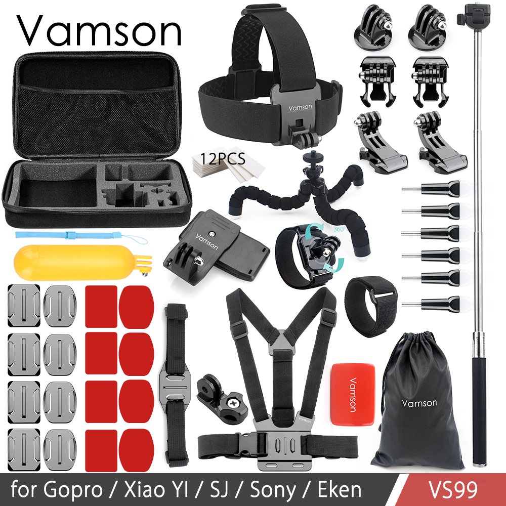 Vamson For Gopro Accessories Mount Big Case for go pro hero 6 5 4 3 Session