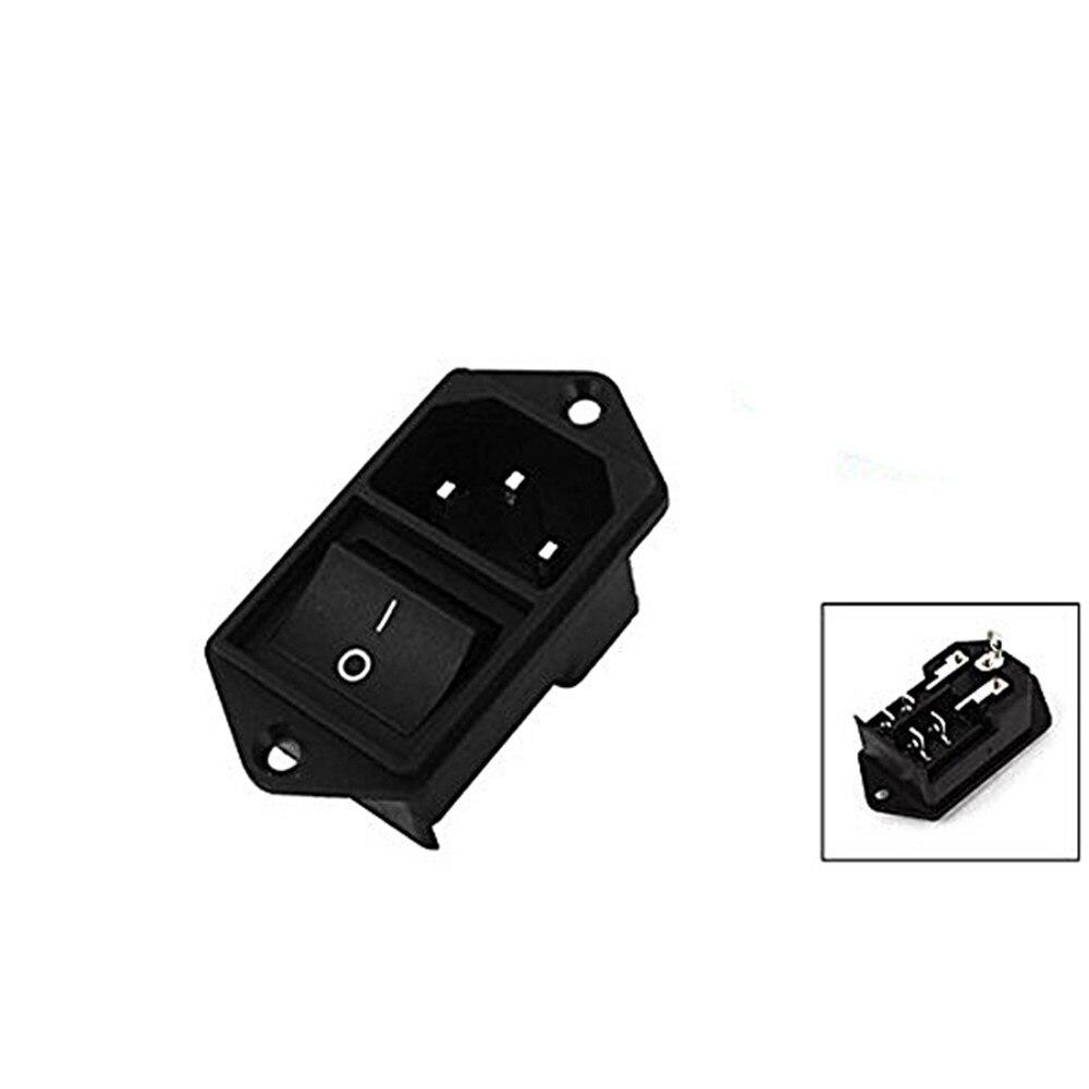 1 шт. IEC320 C14 шнур питания переменного тока на входе розетка с Кулисный Переключатель 250 В 15A SA172 P50