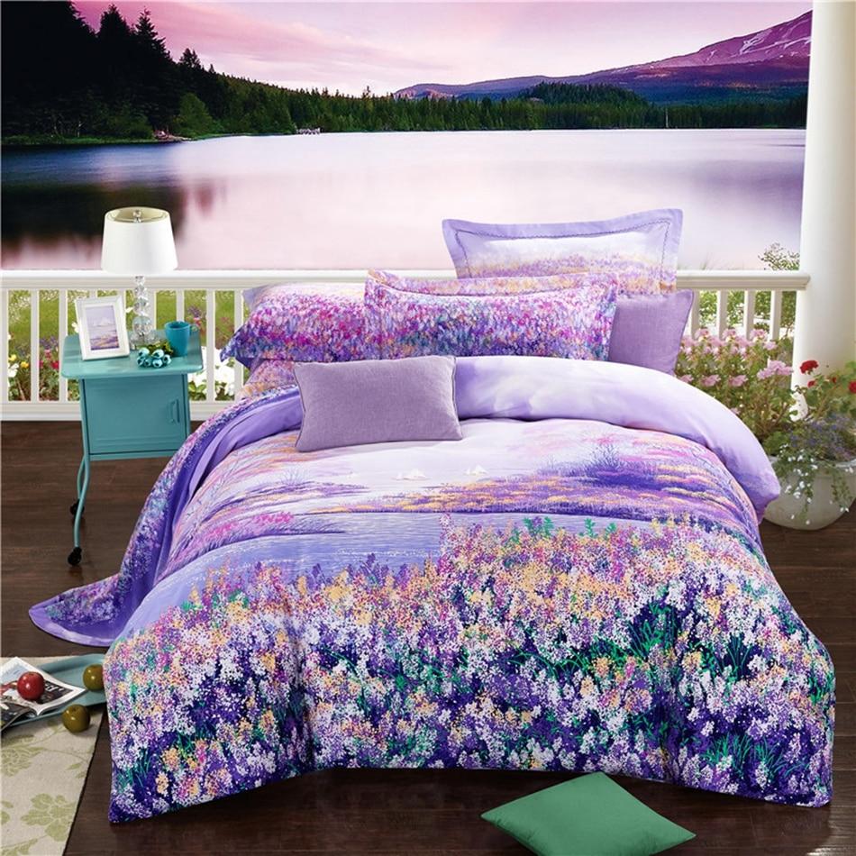 online kaufen gro handel lavendel duvet aus china lavendel. Black Bedroom Furniture Sets. Home Design Ideas