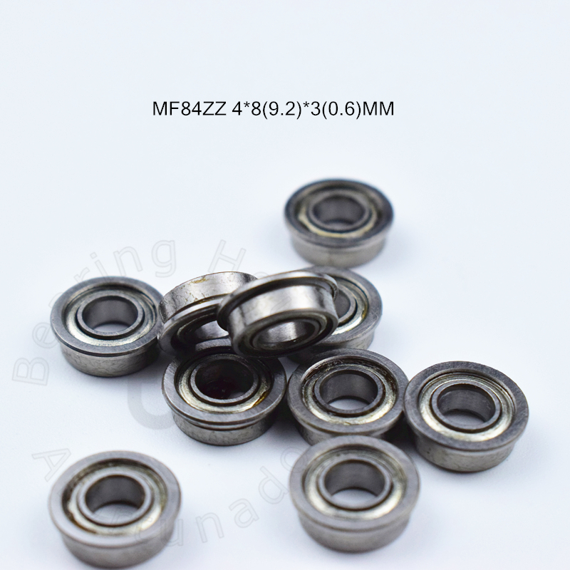 MF84ZZ 4*8(9.2)*3(0.6)MM 10pieces bearing LF-840ZZ ABEC-5 Flange bearings Free shipping chrome steel