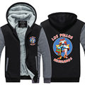 Men Fashion Breaking Bad Jacket 2016 LOS POLLOS Hermanos Hoodie Chicken Brothers Thicken Fleece  Hot Sale Tops Plus size