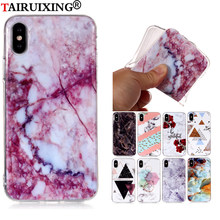 Silicon Marble Shell TPU Back Cover For Samsung Galaxy Note 8 9 Xiaomi Redmi 4X 5A Note 5 Plus 6 Pro F1 A2 Lite Case(China)