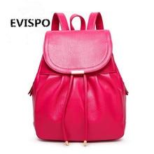 EVISPO sacoche homme марка luxe женщин подлинные PU рюкзаки для путешествий сумка рюкзак mochila эсколар санторо BD-002
