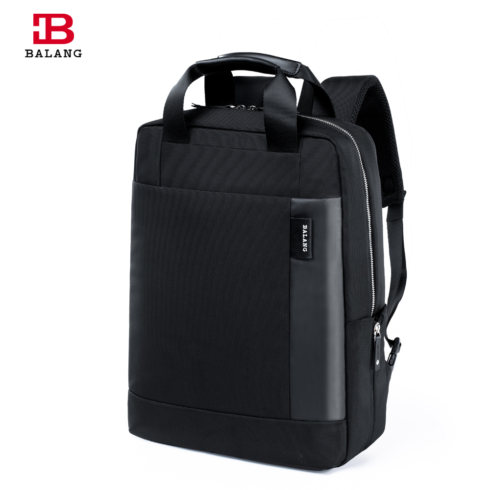 ФОТО 2016 New BALANG Brand Functional Men Business Laptop Backpacks for 15.6inch Computer Hand Male Waterproof Bags Black Blue Colors