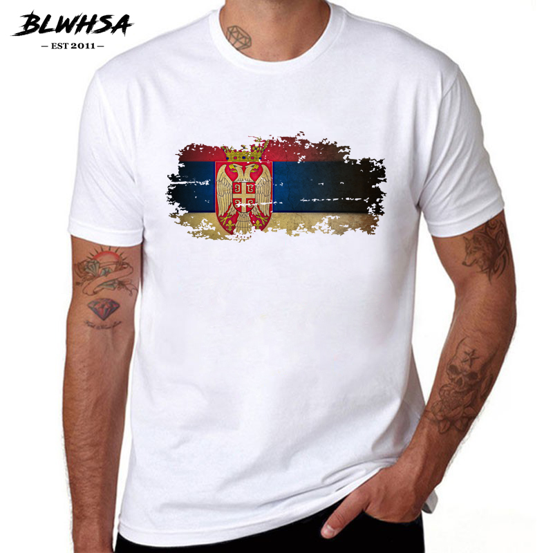 Blwhsa New Haiti Flag T Shirt Men Fashion Short Sleeve Cotton Design Nostalgia T-shirts Summer Haiti Men Clothing Men's Clothing
