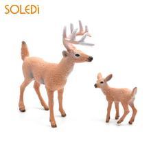 Мини-моделирование оленя белохвостый олень рождественские украшения для дома Рождественский лось ПВХ Прямая поставка