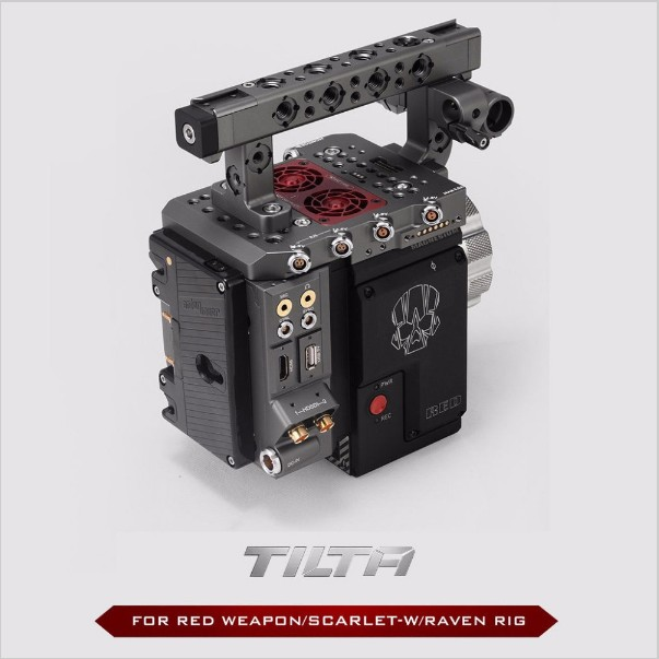 TILTA ESR-T01-A Rig For RED RAVEN/RED WEAPON/RED SCARLET-W Cage + RED I/O module POWER function SDI HDMI OUTPUT red