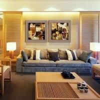 Hot Modern Egito Totem Artes Define Casa Abstrata Pintura A Óleo Sobre linho 2 Painel Wall Decor Imagem para Sala de estar