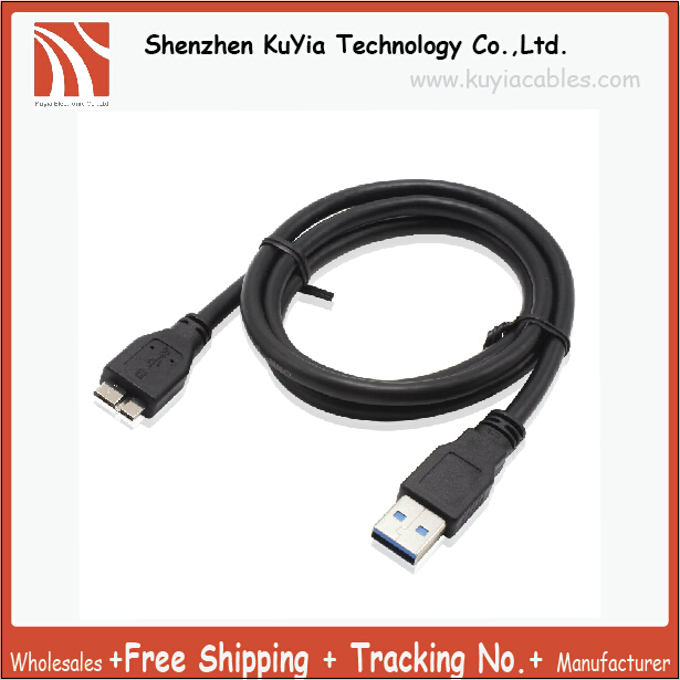 Free Shipping USB 3 0 Cable For WD Western Digital My Passport and Elements Samsung External Hard Drives A to Micro B 2 5Feet in Data Cables from Consumer Electronics