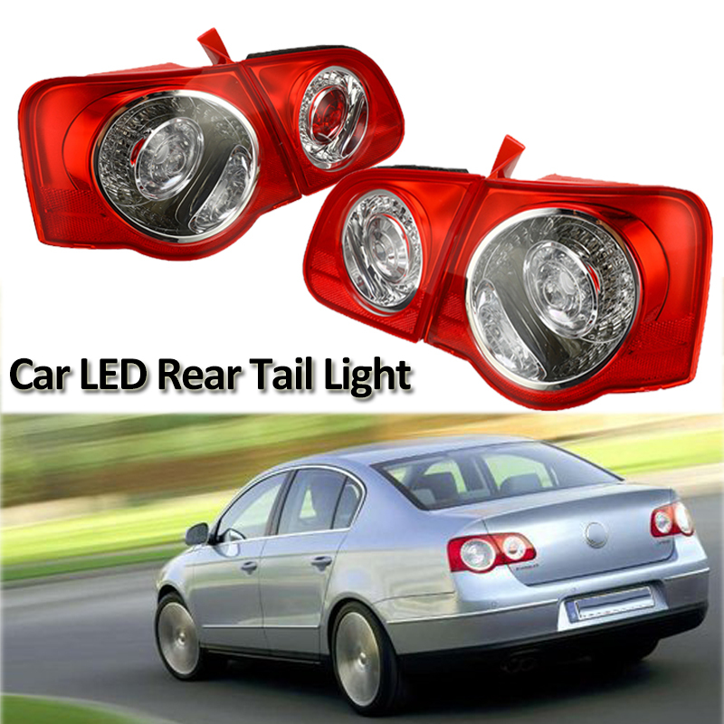 12V <font><b>LED</b></font> Car Left Right Side Rear Tail Light Assembly For VW <font><b>Passat</b></font> <font><b>B6</b></font> Sendan 2006-2011 Outer Brake Fog Lamp <font><b>DRL</b></font> <font><b>Turn</b></font> <font><b>Signal</b></font> image