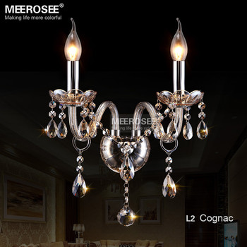 Vintage Transparent Crystal Wall Lamp Glass Wall Sconce Crystal Wall Light For Livingroom Restaurant Wall Lustre