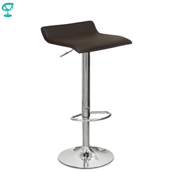 94504 Barneo N-38 эко-кожа кухонный барный стул с мягким сиденьем на газ-лифте цвет коричневый мебель для кухни кресло для броу бара бесплатная дост...