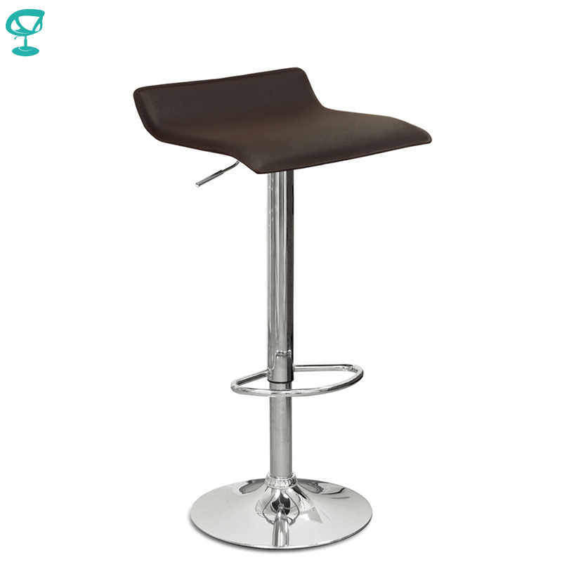 94504 Barneo N-38 Leather Kitchen Breakfast Bar Stool Swivel Bar Chair Brown Free Shipping In Russia