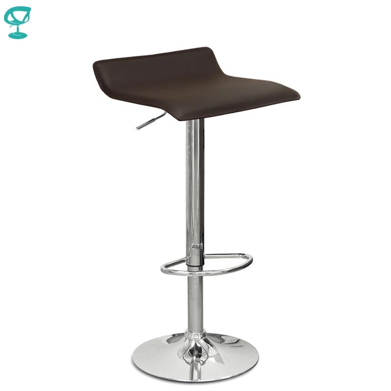 94504 Barneo N-38 Leather Kitchen Breakfast Bar Stool Swivel Bar Chair Brown Free Shipping In Russia