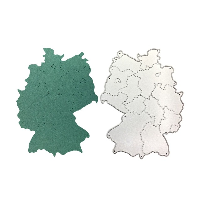Map Of The World Germany.Us 2 38 World Cup Series Germany Map Metal Cutting Die Stencil For Diy Hands On Scrapbooking Album Paper Photo Card Cut Decorative Craft In Cutting