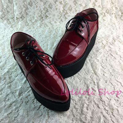 Punk scarpe Grandi scarpe, black lace up scarpe su misura della torta a forma di vino rosso con brillante in pelle scarpe fatte di an1304-5Punk scarpe Grandi scarpe, black lace up scarpe su misura della torta a forma di vino rosso con brillante in pelle scarpe fatte di an1304-5