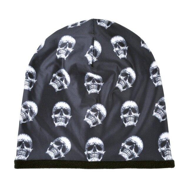 Skull Pattern Beanie 4