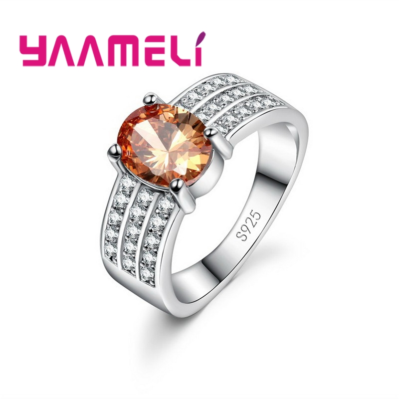YAAMELI Fashion Crystal CZ Stone Wedding Engagement Rings for Couples 925 Silver Vintage Ring for women Men Wholesale Ring