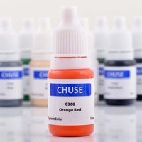 New CHUSE Brand C368 Orange Red Semi Permanent Makeup Tattoo Ink Pigment Micro Pigment Color For