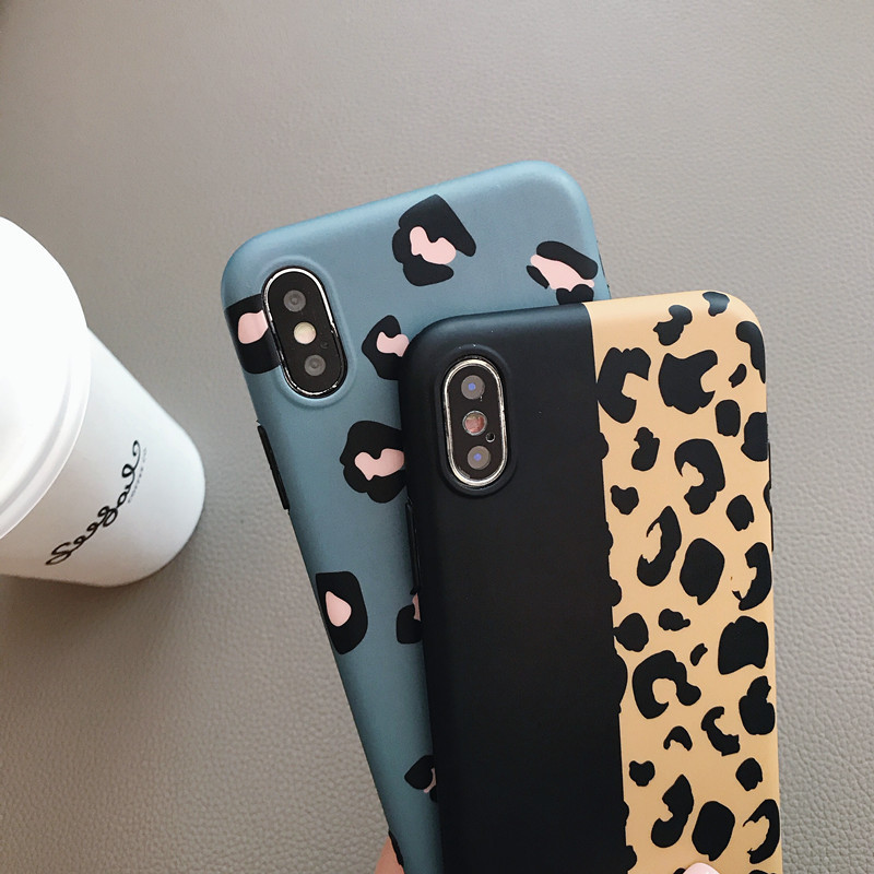 Leopard Print Phone Case Cover for Iphone XS Max XR X 8 7 6 6S Plus Luxury Soft Back Cases Colorful Fashion Capa Shell in Fitted Cases from Cellphones Telecommunications