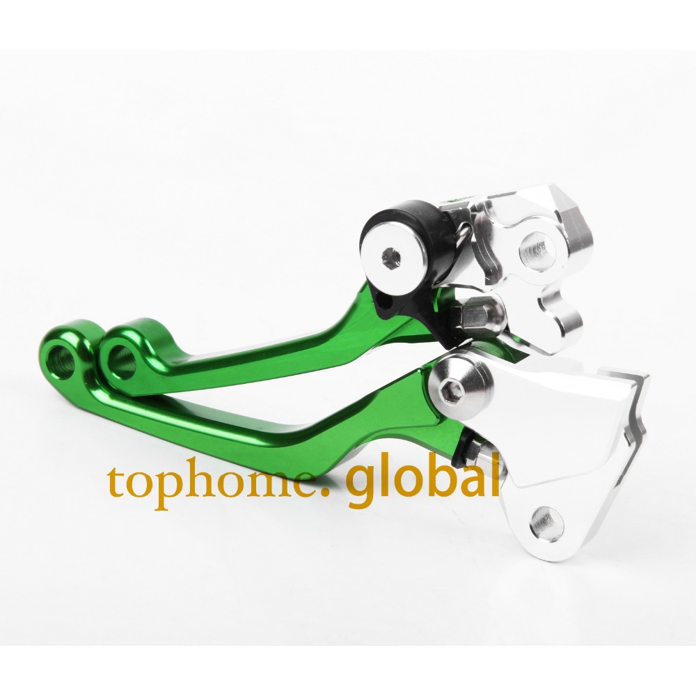 Hot One Pair CNC Pivot Dirttbike Brake Clutch Levers Green Color For Kawasaki KX450F 2006-2012 2007 2008 2009 2010 2011 2012 hot one pair cnc pivot dirttbike brake clutch levers for honda crf450r 2007 2015 2008 2009 2010 2011 2012 2013