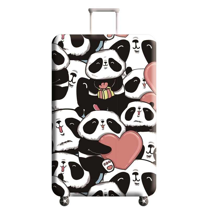 Fashion panda Travel Luggage Cover Men's Women's Elastic Trolley Case Baggage Dust Protection Trip Suitcase Accessories Supplies