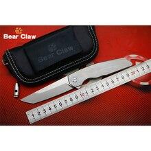 BEAR CLAW NEUE T-ANTO M390 klinge Titan griff Flipper klappmesser Outdoor taschenmesser camping jagd EDC werkzeuge obst