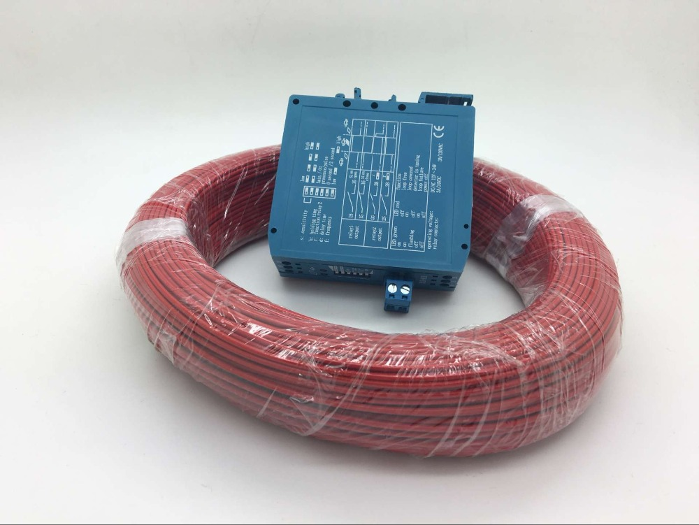 M1H Blue Loop Detector Control 12V/24VDC Vehicle Detector Magnetic With 0.75mm*50m Coil For Sale