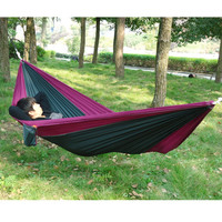 Portable Outdoor Traveling Camping Nylon Fabric Hammock For Two Person Camping Hammock Parachute Hammock