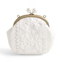 New Good Quality Ladies Pure White Golden Chains Shell Crossbody Messenger Bag Women Shopping Shoulder Bag