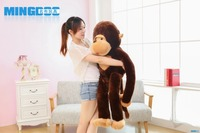 large 130cm monkey plush toy, long arms monkey throw pillow,home decoration surprised birthday gift h2997