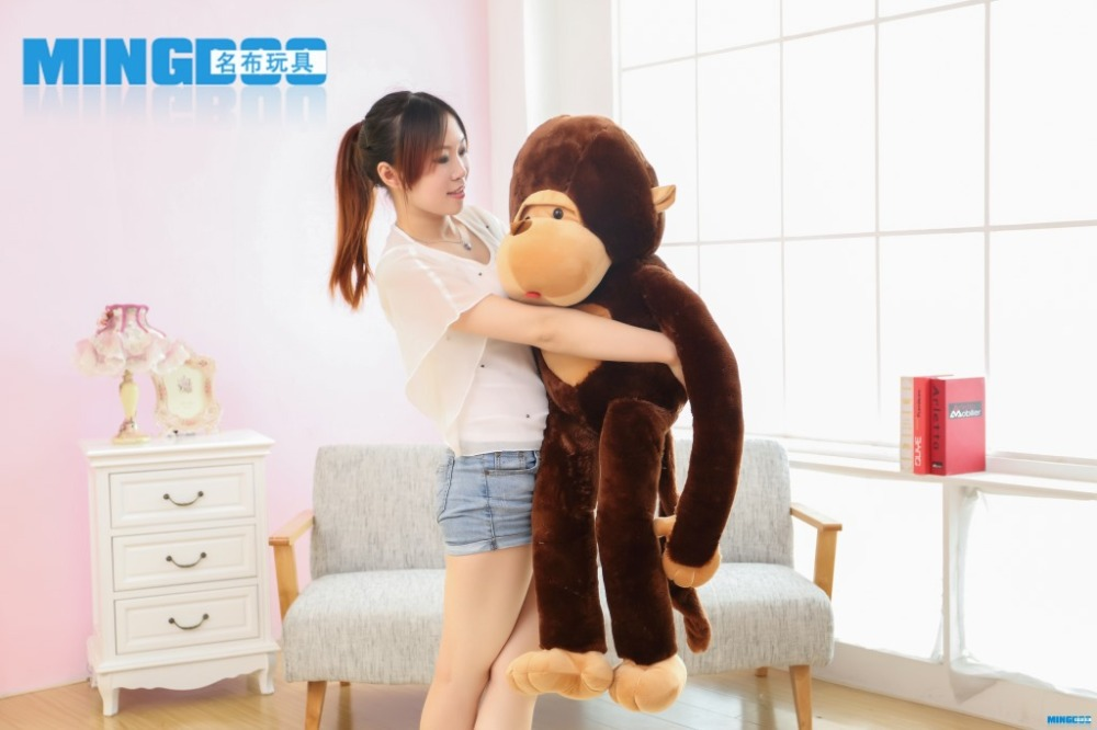 large 130cm monkey plush toy, long arms monkey throw pillow,home decoration surprised birthday gift h2997 70cm lovely monkey plush toy cici monkey doll throw pillow birthday gift w6290