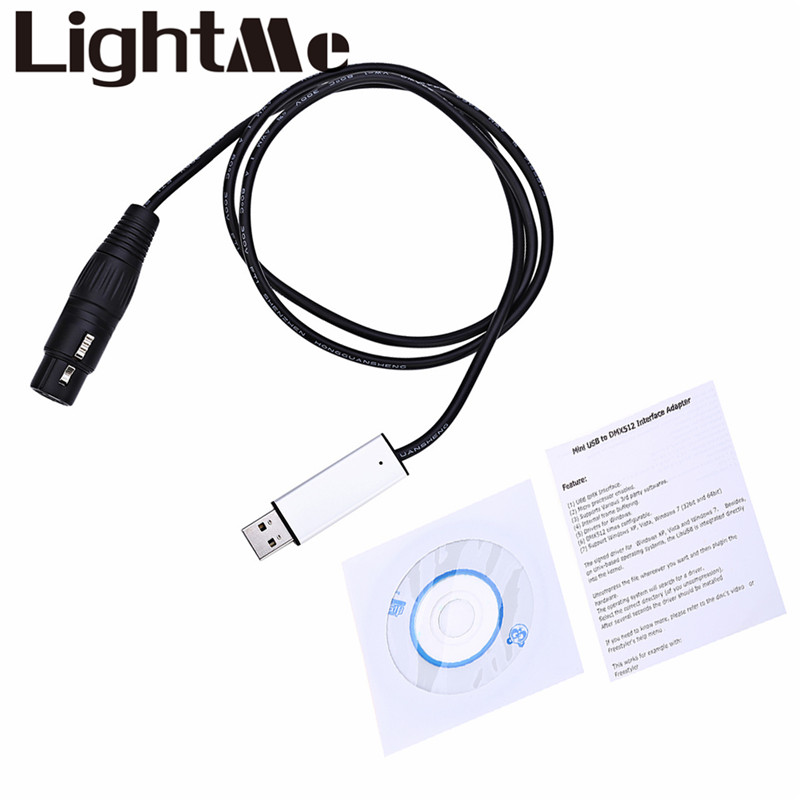 Mini USB To DMX 512 Interface Adapter For Stage Light RGB PAR LED Effect DMX512 Master