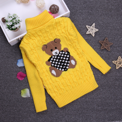 2 3 4 6 8 10Y Character Print O-neck Boys Sweater Full Sleeve Children Pullover Girls Knitted Sweater KC-1547-11