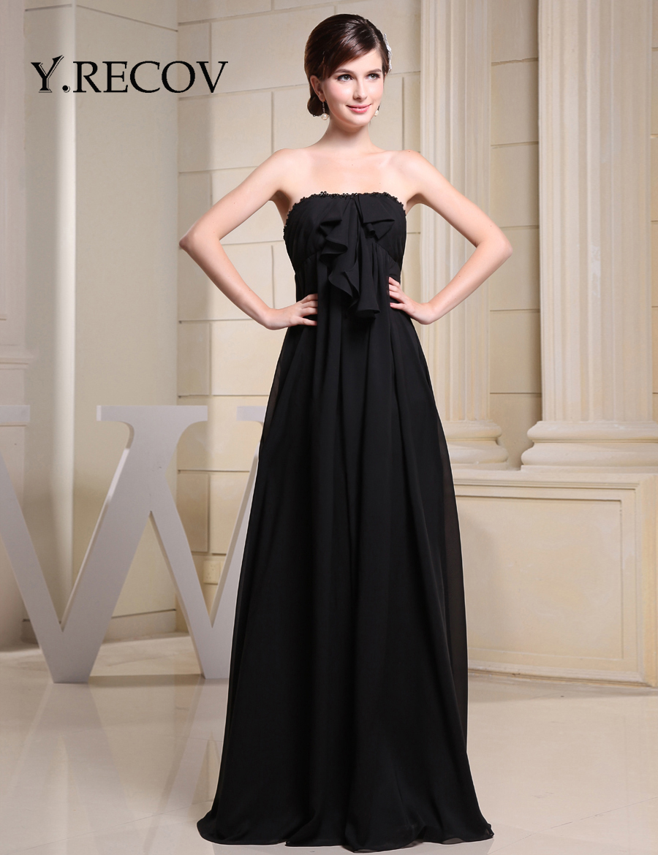 Plus size black evening dress