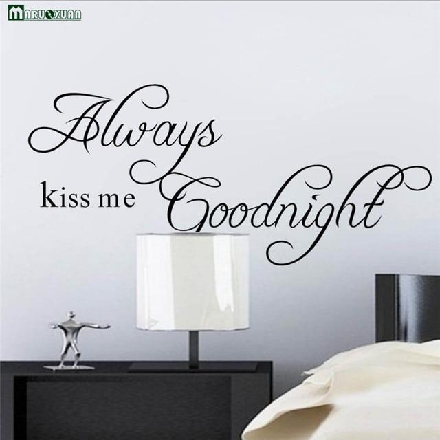 terompet model ledakan selalu kiss me selamat malam stiker dinding