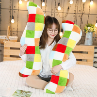 90CM Long Column Large Boyfriend Pillow Rainbow Plaid Style Nap Couch Bed Sleeping Round Cushion Foot Neck Head Memory Pillows