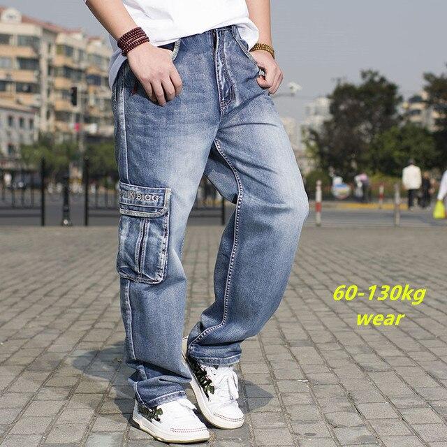 emballage élégant et robuste qualité conception adroite € 36.41 15% de réduction Hommes Japonais décontracté Baggy Jeans Avec  Plusieurs Poches Pour Hommes Élastique Large Jambe Jeans Cargo Hommes Hip  Hop ...