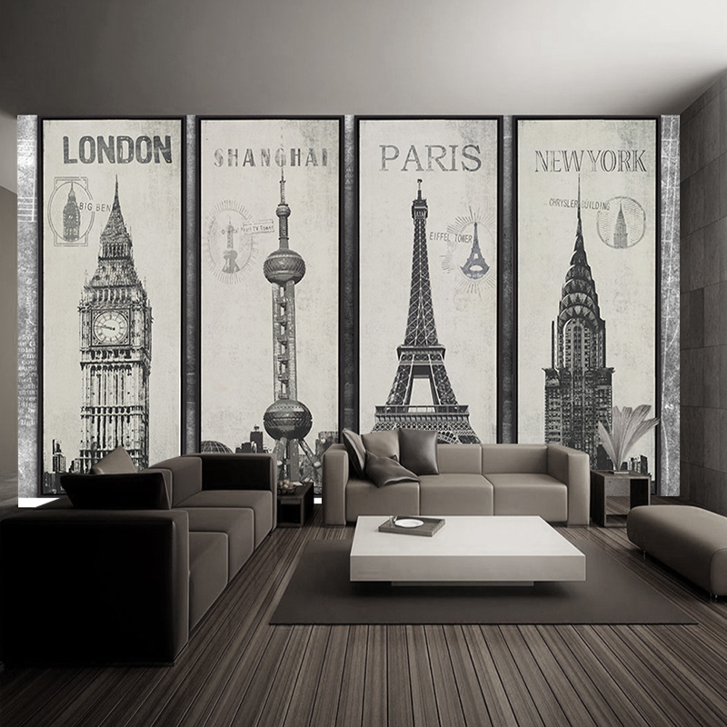 Fashion eiffel tower sydney greek city building set diy for Fashion wallpaper for bedrooms