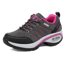 Осень-зима Новый Для женщин Пеший Туризм Сапоги и ботинки для девочек Женская кожаная обувь удобная прогулочная Спортивная обувь Обувь для девочек дизайнер Альпинизм Обувь