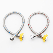 Bathroom 2pcs 51cm G1/2 304 Stainless Steel Braided Inlet Pipe Flexible Cold/Hot Mixer Faucet Water Supply Pipe Plumbing Hoses viborg top quality 60cm sus304 stainless steel flexible braided water supply hose for water heater connector pipe tube