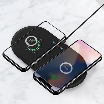 2 in 1 Dual QI Wireless Charger Fast Charging Pad Quick Phone Charge For iPhone 8 10 X Samsung Galaxy S9 S8 S7 Edge Note8