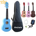 "21"" four colour Ukulele Beginners Children Christmas Gifts Hawaii Four String Guitar + Bag+Tuner+String+Pick"