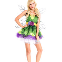 2017 New Adult Cosplay Butterfly Fairy Dress, Green Elf Garment, Halloween Dragonfly Mounted Insect Costume for Animal Party w12