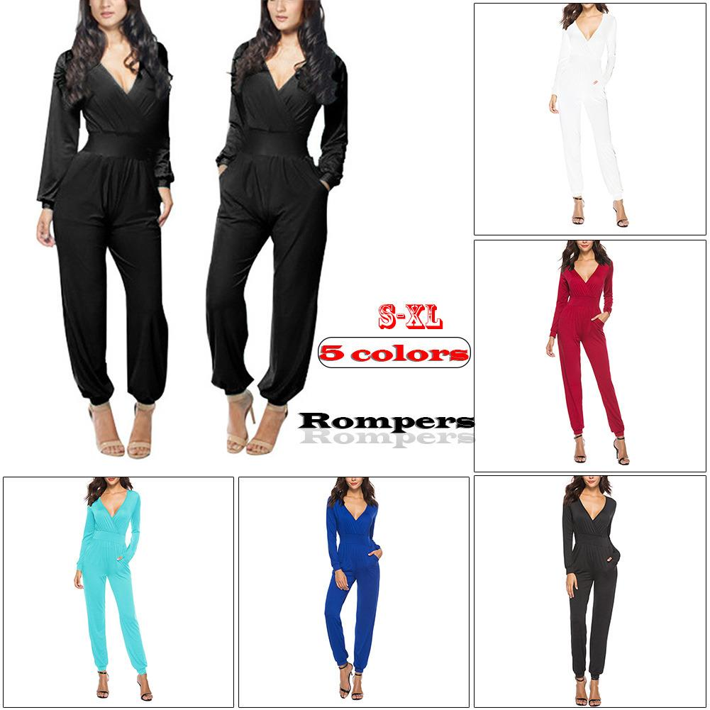 ca02a066052f Woman s Generous England Style Milk Silk Jumpsuit European And American  Style Women s Trousers Loose Pockets Rompers