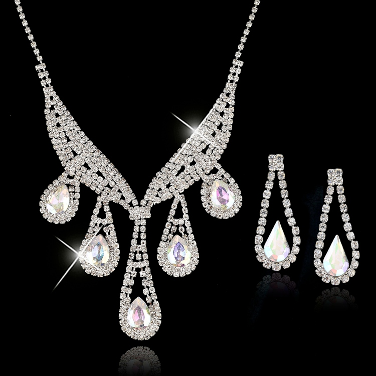 Buy toucheart luxury bridal wedding for Pink wedding jewelry sets