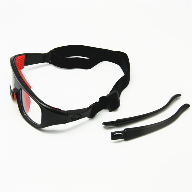 eeda07a0cda6 2-in-1 Basketball Glasses Optical Frame Detachable Legs   Strap Protective  Sports Goggles
